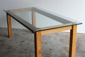 Design Tisch aus Glas und Holz (11)