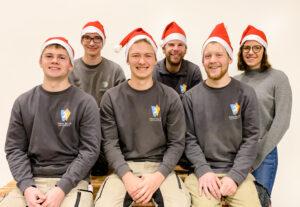 Teambild Schreinerei Bellut Weihnachten